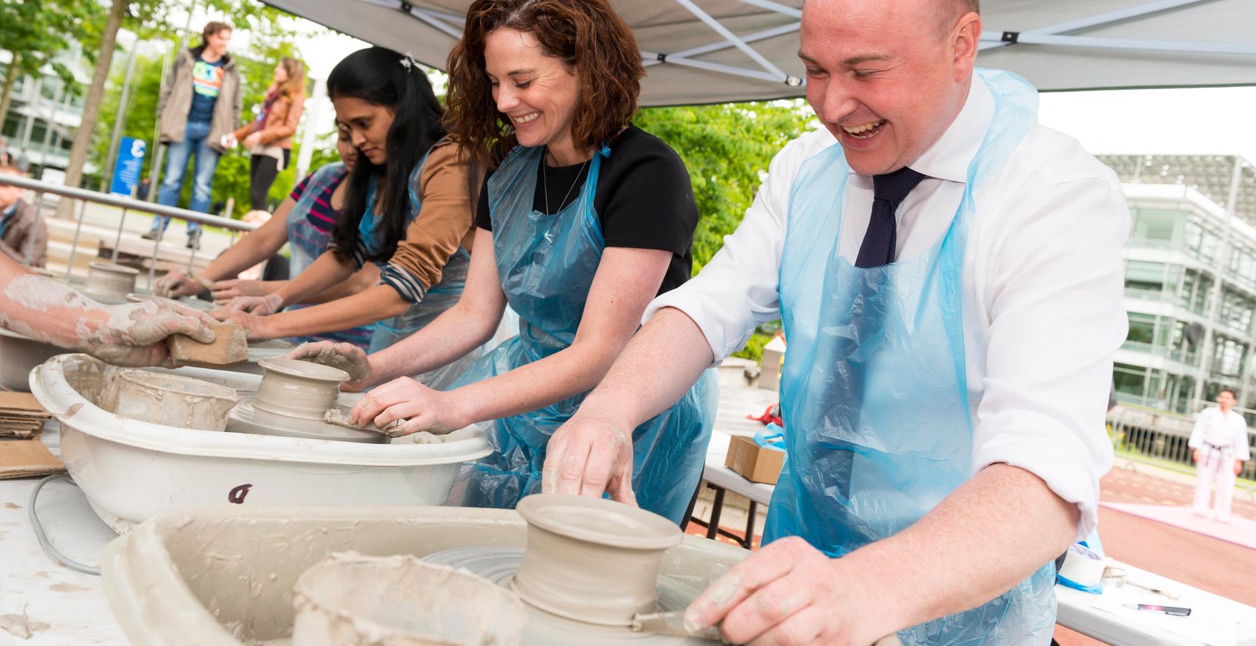Enjoy Work Pottery Day